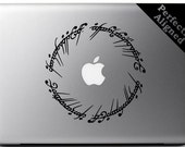 "Vinyl Decal - 5"" Elvish Circle decal inspired by The Lord of the Rings for Macbooks, Laptops, Cars, etc..."