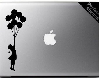 Vinyl Decal - Banksy style Girl With Ballons Decal for Macbooks, Laptops, Cars, etc...