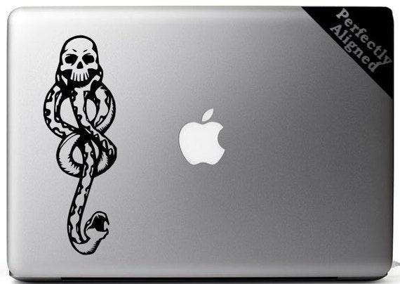 """Vinyl Decal - 7"""" Harry Potter inspired Darkmark decal for Macbooks, laptops, Cars, etc..."""