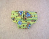Baby Doll Diaper - Cats Fishing - Size Large