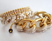 Arm Party Set in Antique Ivory - MADE TO ORDER