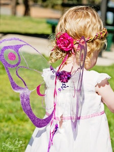 Fairy Wings in Purple and Pink, feathered 'Moth wing' design, photo ...