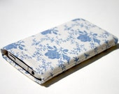 Fabric iPhone 6 case - Blue Rose fabric sleeve / case / cover