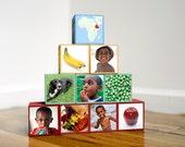 10 Personalized Photo Blocks - 4 photos per block