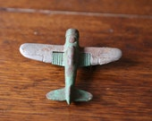Vintage Hubley Cast Iron Airplane Toy