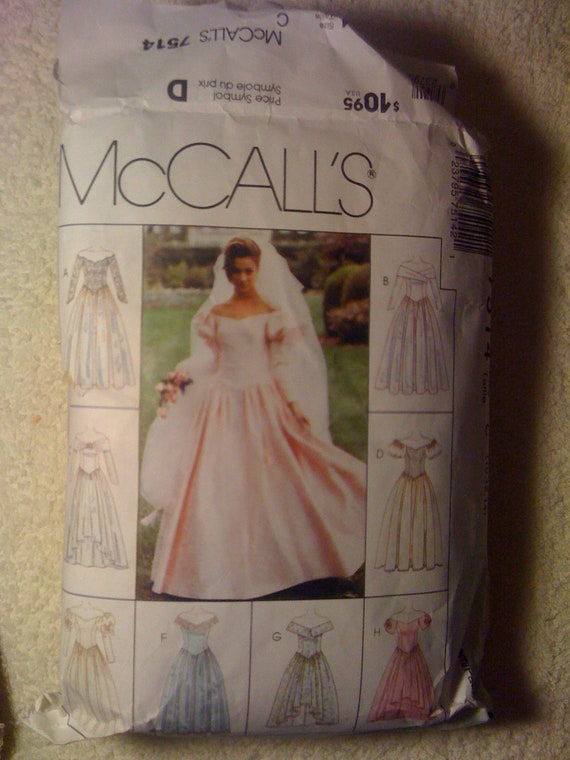 McCalls 90s Sewing Pattern 7514 Misses Gowns In Two Lengths Size 10, 12, 14 Sale