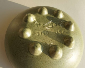 Vintage Mid Century Modern Green Haeger Bowl