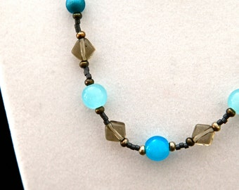 Sky with Clouds Necklace