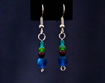 Deeper Jewel-Tones Drop Earrings