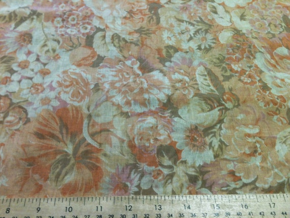 Gorgeous floral print sheer handkerchief linen/rayon fabric by the yard