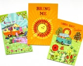 Pack of 3 A6 Postcard Prints 'Living The Dream' 'Bring Me' 'Good Day Sunshine'