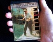 Travel Ticket Sleeve, Travel Wallet, Cardholder with Indiana Jones