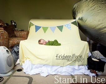 Backdrop Stand for Newborn Photography  - Works with any size beanbag - Great for on-locaton newborn photography or studios