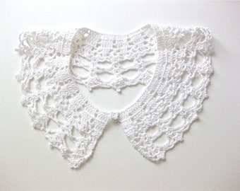 Wedding Crochet Collar Vintage Handmade Collar White Bridal Fashion