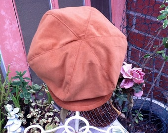Golden Brown corduroy  Newsboy hat, boy hat, beret for boys