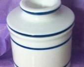 Large Stoneware Butter Keeper by Norpro in excellent condition 3.50 x 3.75 inches diameter that's a lot of butter : )