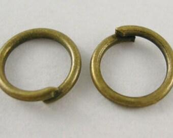 152- JumpRings, Close  , Antique Bronze Color, 5mm diameter  .8mm thick  (500 pcs)