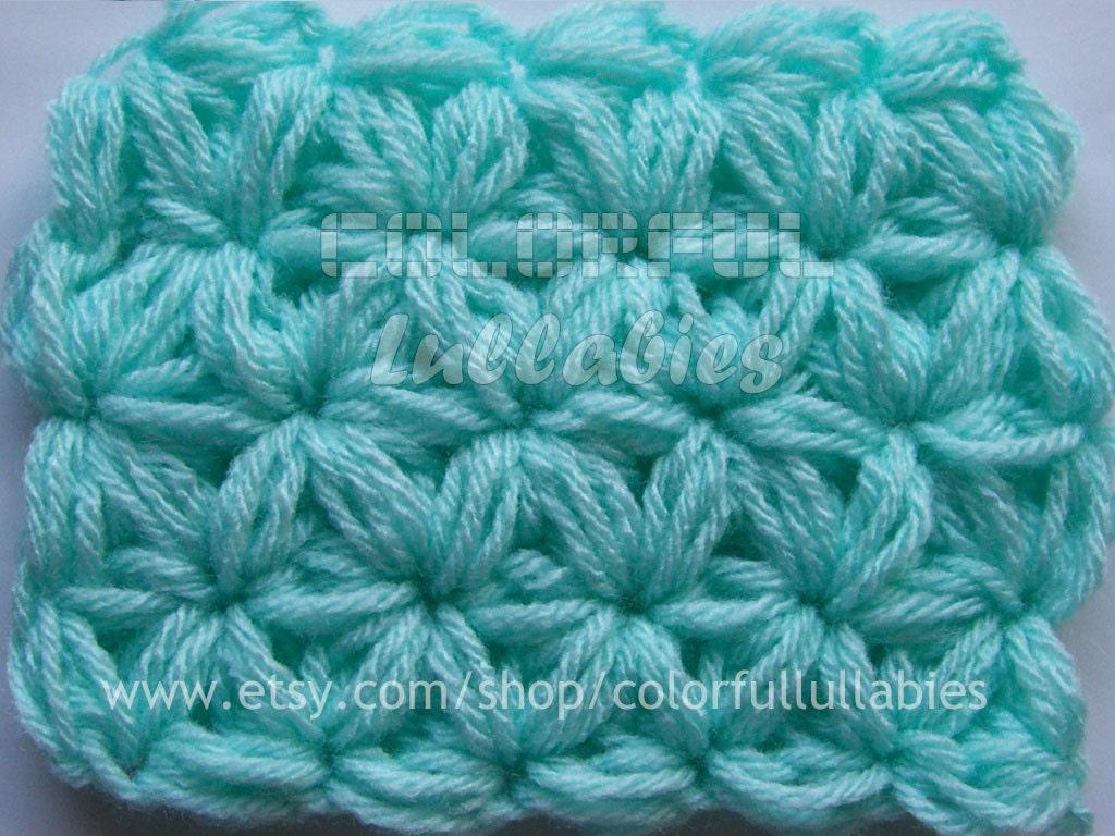 Puff 6 Petal Jasmine Stitch No 3 Pdf Crochet Pattern Working