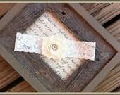 Wedding Garter- Ivory Vintage Wedding Bridal Toss Garter-Toss Garter