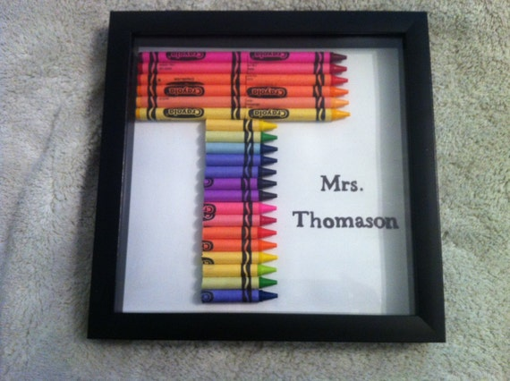 Personalized Framed Crayon Monogram