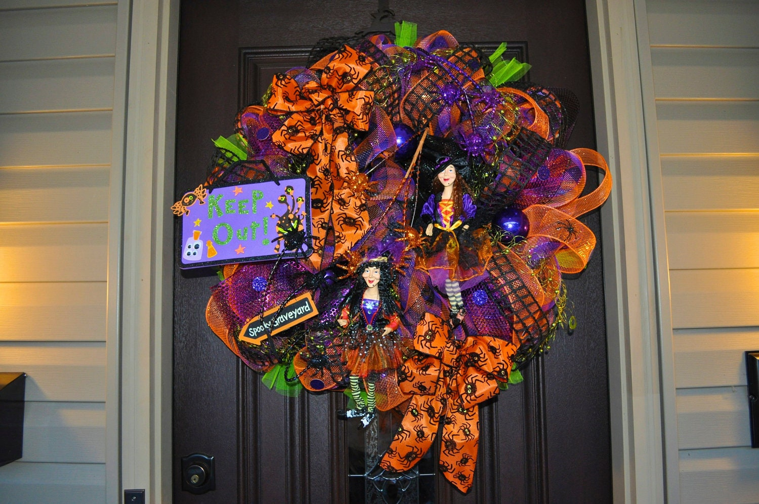 Halloween wreath deco mesh wreath mesh wreath wreath witch for Deco decorations