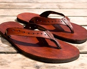 "Leather Flip Flops sandals ""JENNY"""