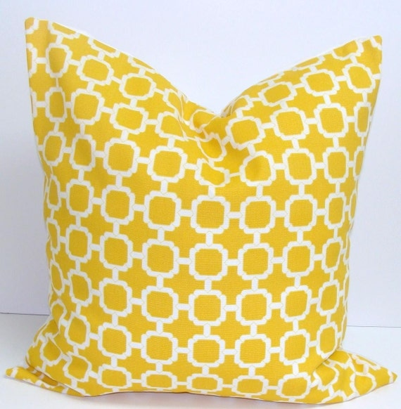 Yellow Pillow.20x20 inch.Decorator Throw Pillow by ElemenOPillows