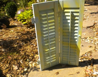 Upcycled wooden Eclectic Shutter,Vintage,Cottage,Cottage Chic,French Shutter,Back Drop,Shabby Chic,Wall Decor,Tabletop Shutter