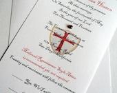 Game of Thrones Wedding Invitation - Medieval Wedding Invitations - Themed Wedding Invitations