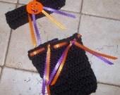Baby Girl Headband  Newborn Baby Girl HALLOWEN Headband and Leg Warmer Set FREE Shipping Inside USA Leg Warmers