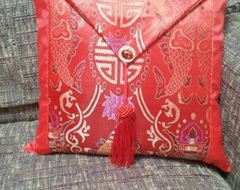 Red Embroidered Chinese pillows