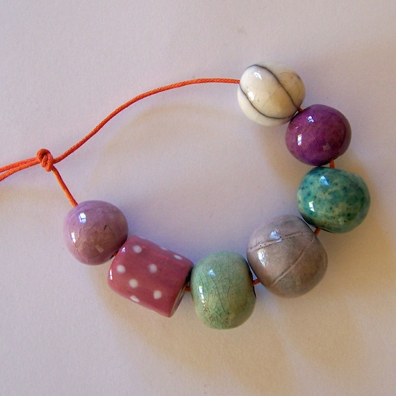 Handmade ceramic beads from South Africa