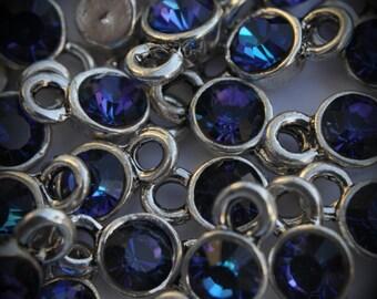 Heliotrope  Xilion Genuine Silver Plated Swarovski Crystal Connectors Link T1500