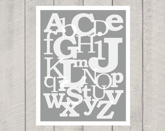 Nursery Alphabet Art Print