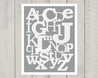 Nursery Alphabet Art Print