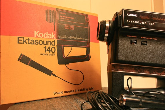 Kodak Ektasound 140 Movie Outfit Camera- Super 8mm Camera - Black Friday Sale - BrandosFunkyFinds