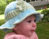 Sun Hat Beach Hat for Baby 100% Cotton Hand Knit