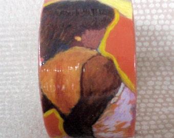 Calypso Dancer Decoupage Bracelet / Bangle / Cuff