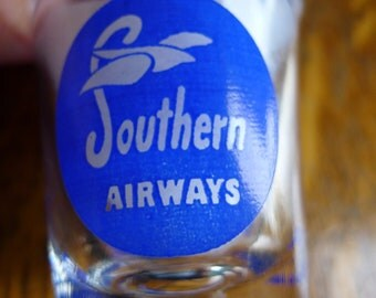 Collectible 1958 Southern Airways Shot Glass -- 9th Year