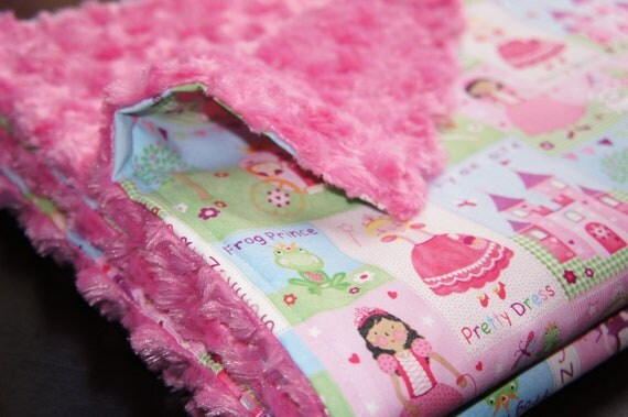 Items Similar To Sale Fairy Tale Princess Minky Blanket