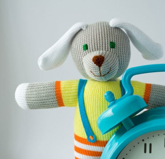 Phill the Doggy, knitted doll - gift for boys and girls from 3 till 99 years old - eco friendly toy by FrejaToys