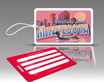 2 MINNESOTA Bag Tags, Travel Luggage Tags, Suitcase Tags, Novelty Bag Tags, Plastic Luggage Tags, Cute Luggage Tags, Travel Accessories