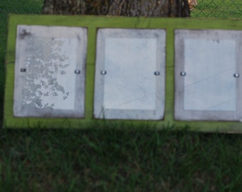 Three 5X7 Picture Frame - Green