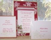 Handmade Christmas Wedding Invitation