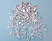 Beautiful Large Jeweled and Sequinned Sewing Applique