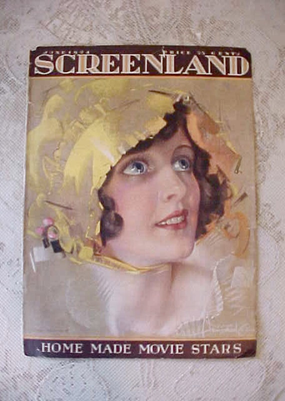 Darling 1924 Screenland Magazine Cover with Film Star May McAvoy