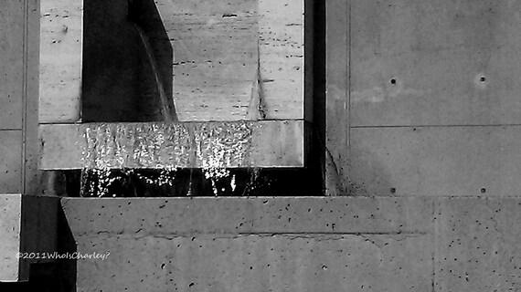 SALK 2. Louis Kahn. Black and White. Abstract. Dramatic Fine Art Photo. 8 x 14
