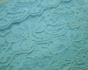 1 yard of 2 inch light blue chantilly lace trim for bridal, wedding, baby, hair accessories, lingerie by MarlenesAttic - Item SK