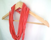Coral Pink Braided Infinity Scarf/Necklace