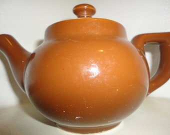 Vintage Boston Style Teapot by Hall single one cup teapot heavy